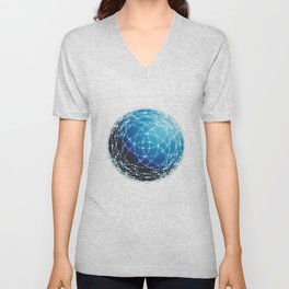 The Blue Orb Unisex V-Neck