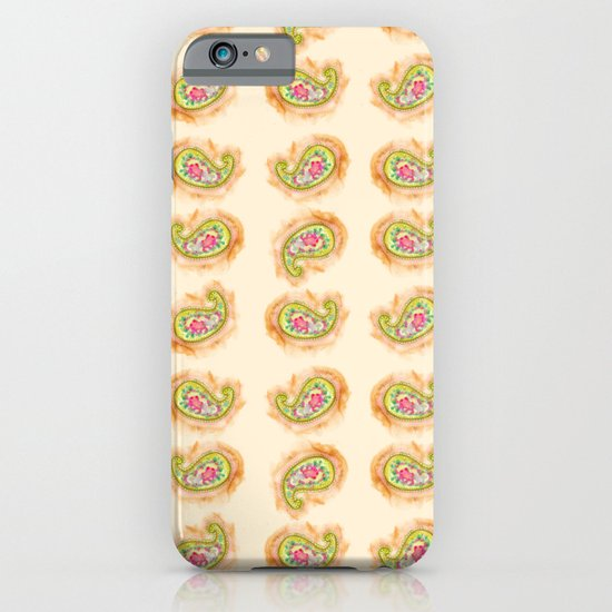 Paisley Watercolor in Tea (tan brown) iPhone & iPod Case