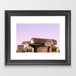 Stack Houses Framed Art Print
