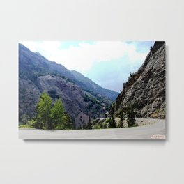Driving the Spectacular, but Perilous Uncompahgre Gorge, No. 3 of 5 Metal Print
