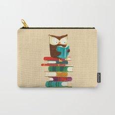 Owl Reading Rainbow Carry-All Pouch