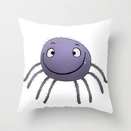 Spider Smile Throw Pillow