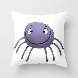 Spider Smile Throw Pillow