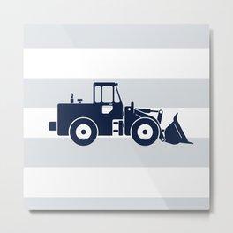 Navy Bulldozer Metal Print