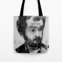 kubrick Tote Bags featuring kubrick by Levvvel