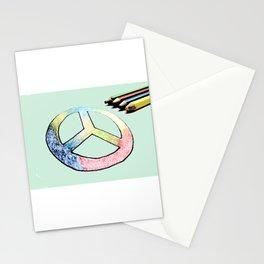 Lápices de la paz Stationery Cards