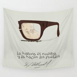 Salvador Allende Lente - TrincheraCreativ Wall Tapestry