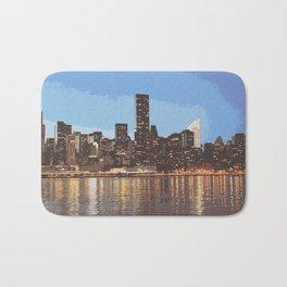 skyline newyork Bath Mat