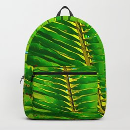 Coconut Frond in Green Aloha Backpack