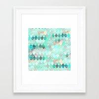 mermaid Framed Art Prints featuring SUMMER MERMAID by Monika Strigel