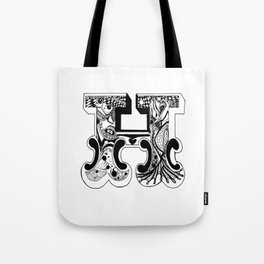 H , Alice's Alphabet Tote Bag