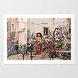 Fado Mouraria Art Print