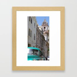 Havana Car & Church Framed Art Print