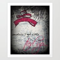 Tied Up - Pink Art Print