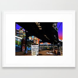 Under the F-Line - New York Framed Art Print