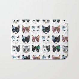 Cute CATS illustration design print Bath Mat