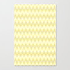 Chevron Yellow Canvas Print