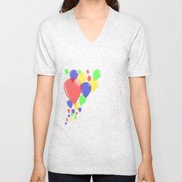 Flyaway Balloons Unisex V-Neck
