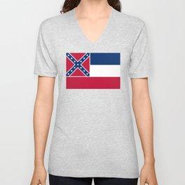 Mississippi State Flag, Authentic Version Unisex V-Neck