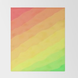Happy Colorful Rainbow Stripes Throw Blanket
