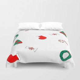 Winter Holiday Themed Illustration Merry Christmas! Duvet Cover