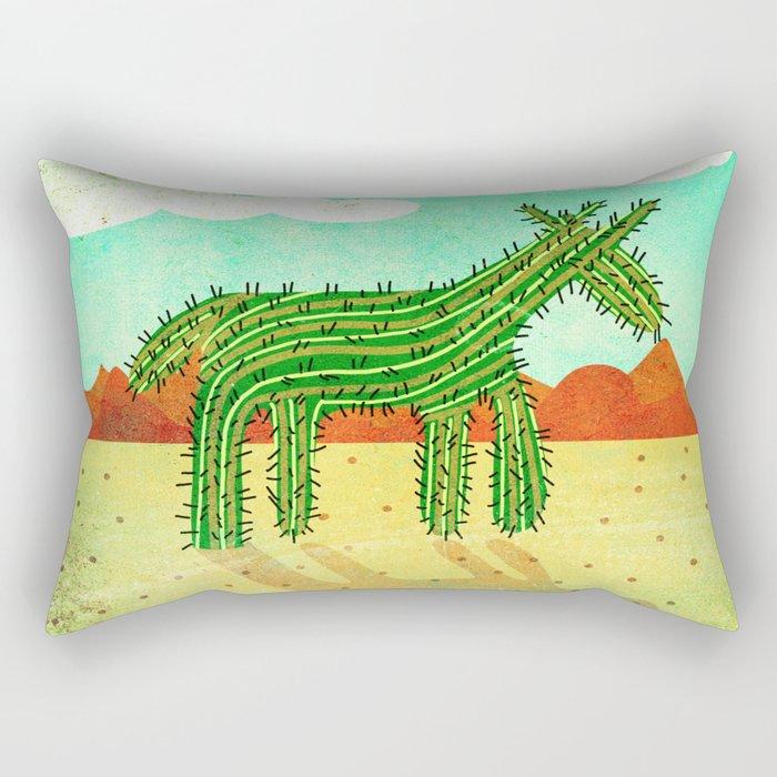 Cactus Unicorn Rectangular Pillow