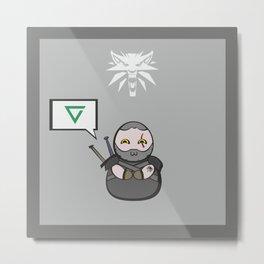 Witcher - Geralt Metal Print