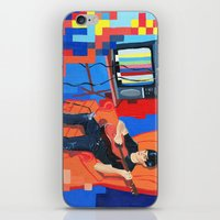 band iPhone & iPod Skins featuring PIXEL BAND by Kevin Whipple