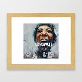 UOYEVOLI #1 Framed Art Print