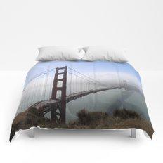 Golden Gate Bridge On A Foggy Morning Comforters