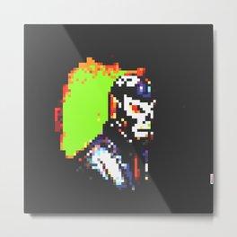 El Luchador uno 8bit Metal Print
