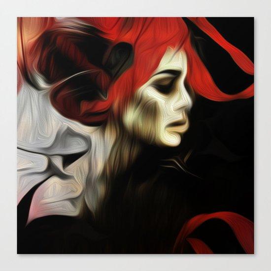 portrait of sadness Canvas Print