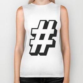 Big Hashtag Biker Tank