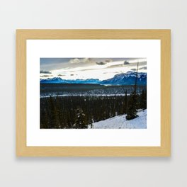 On route to Brule Alberta, Canada Framed Art Print