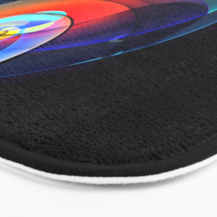 Other dimensions, colourful fractal abstract Bath Mat