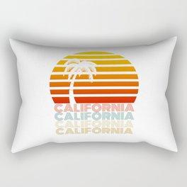 California Summer Sunset Beach Vintage Style Rectangular Pillow