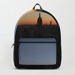Downtown New York City Skyscrapers during Sunset in Winter Backpack