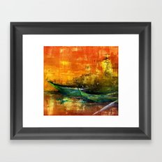 barques Framed Art Print
