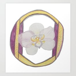O is for Orchid Art Print