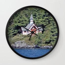 St Isaac Jogues Chapel, Hecker Island (Lake George, NY) Wall Clock