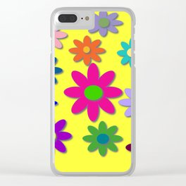 Flower Power, Cute Flowers, Pretty Colorful Flowers Clear iPhone Case