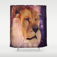 leo Shower Curtains featuring LEO by CLE.ArT.