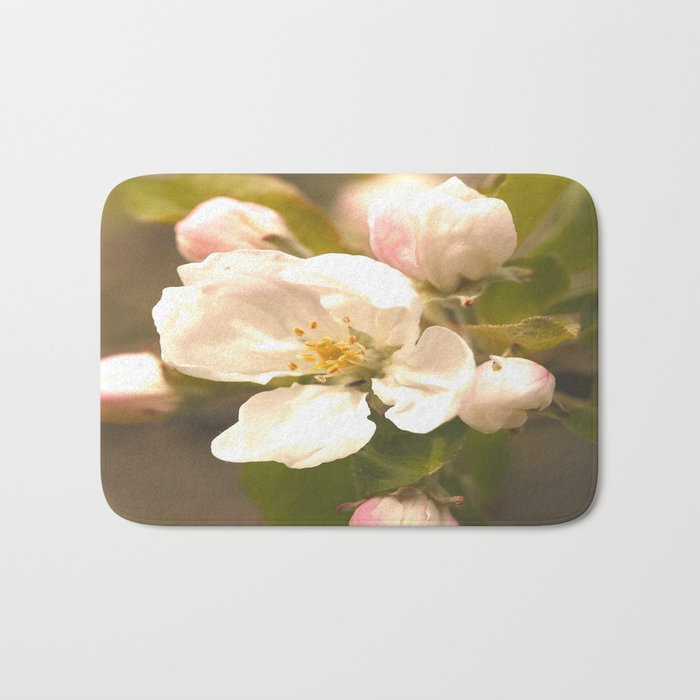Apple Blossoms #decor #society6 Bath Mat