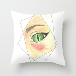 Witch Eye in Prism Throw Pillow