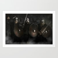 vikings Art Prints featuring Vikings by Silvana Massa Art
