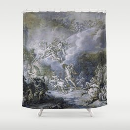 The Combat of Diomedes by Jacques-Louis David (1776) Shower Curtain