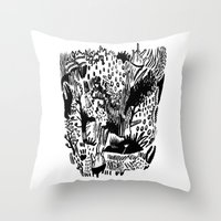 plants Throw Pillows featuring Plants by Bridie Cheeseman