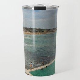 Bondi Beach Icebergs Old Travel Mug