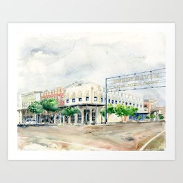 Downtown Brookhaven Art Print