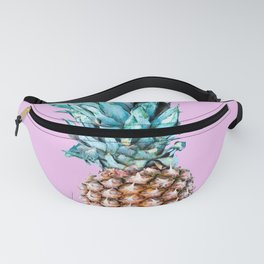 Pineapple On A Pink Background #decor #society6 #homedecor Fanny Pack